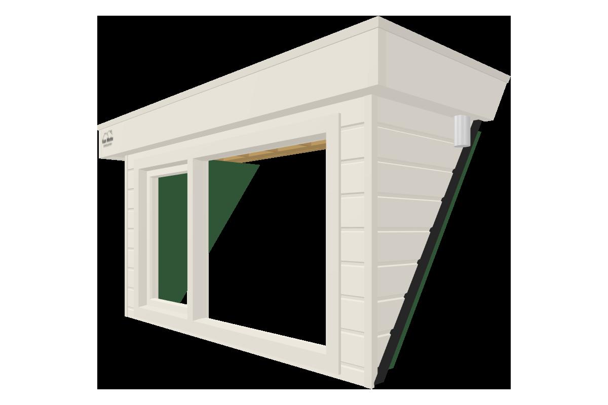 Online dakkapel ontwerpen van 2 meter wit