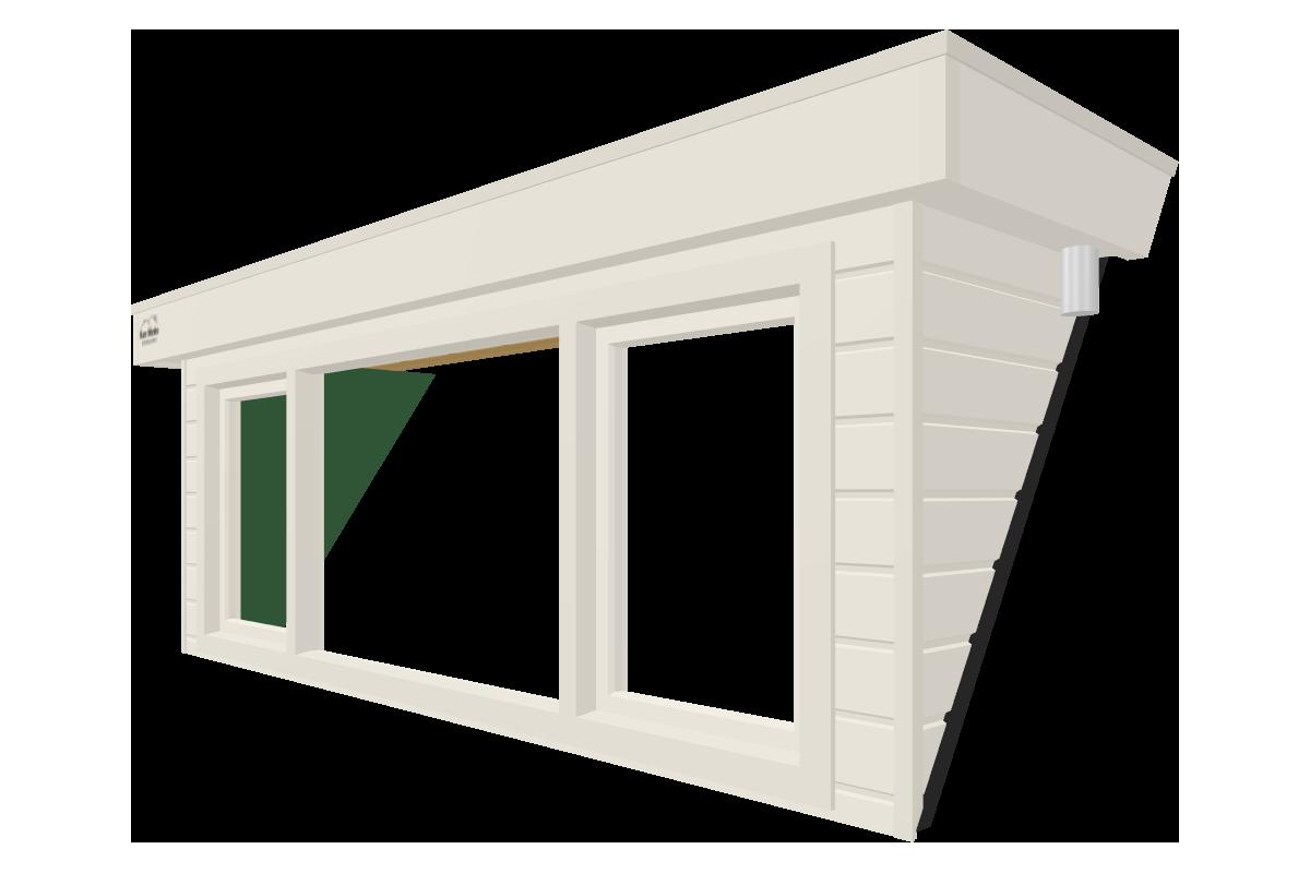 Online dakkapel ontwerpen van 3 meter wit