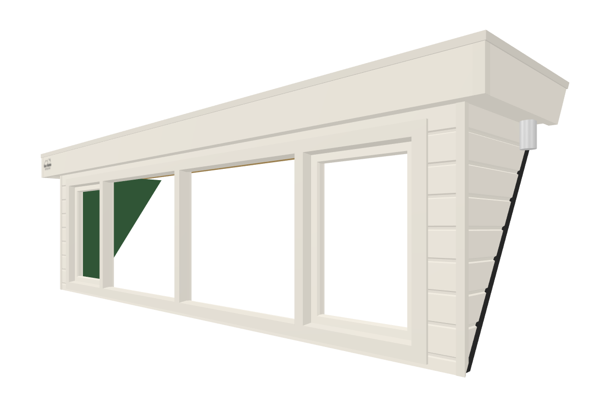 Online dakkapel ontwerpen van 4 meter wit