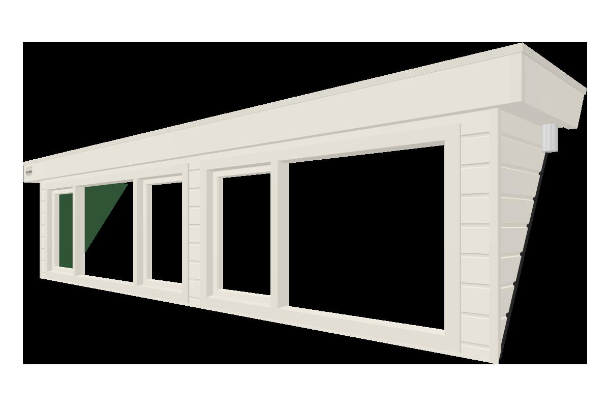 Online dakkapel ontwerpen van 5 meter wit