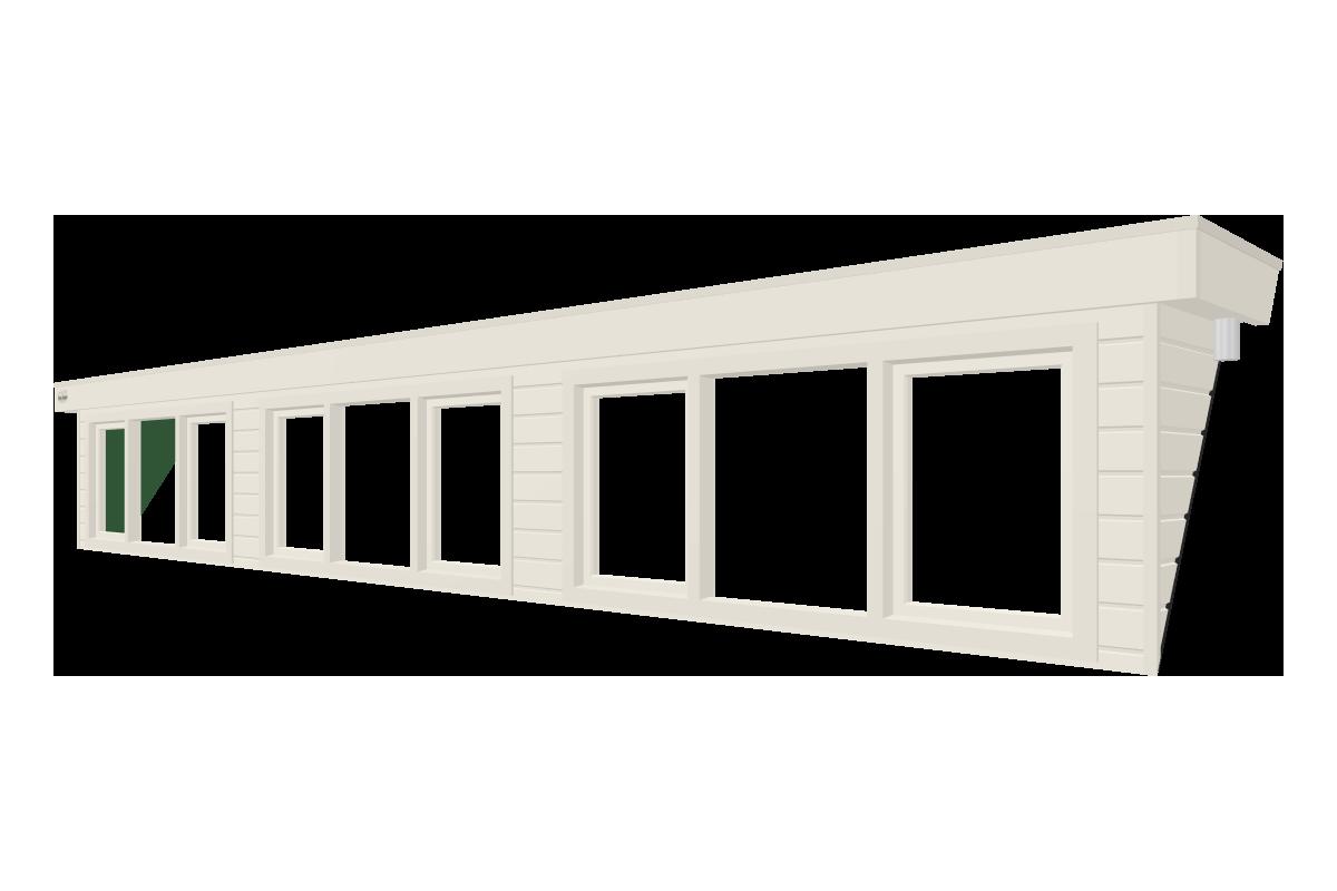 Online dakkapel ontwerpen van 8 meter wit